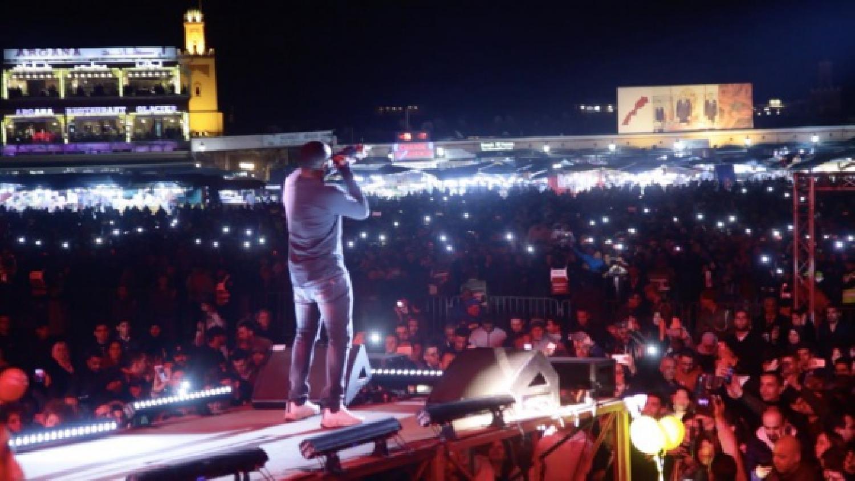 Le superstar Maître Gims est fière de chanter au concert Stars in the Place de Marrakech