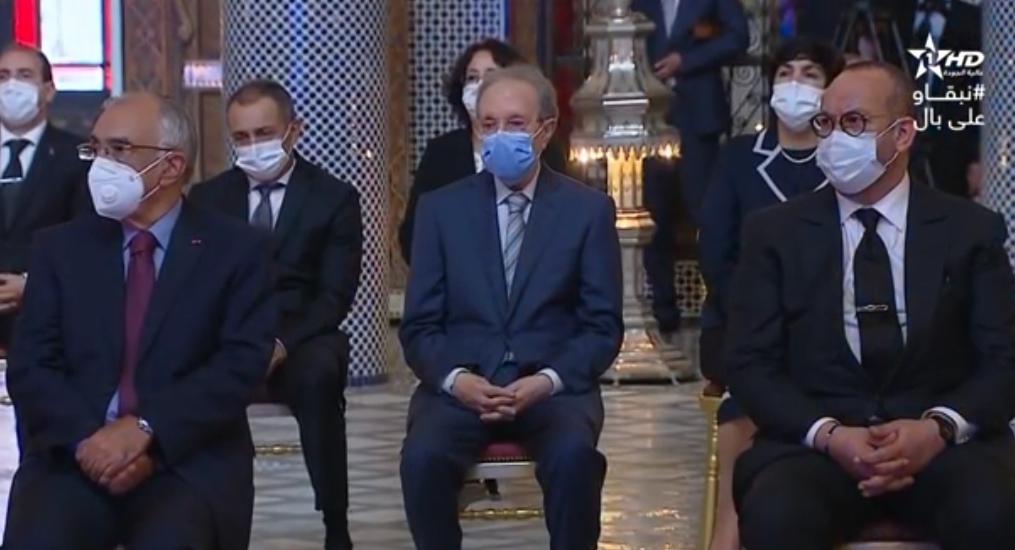 Le Conseiller Fouad Ali El Himma au Palais Royal à Fès, mardi dernier.