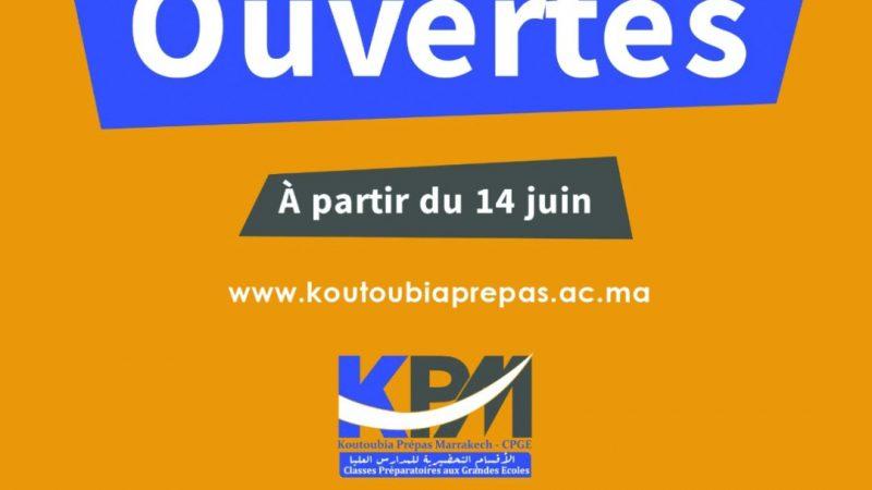L'établissement Koutoubia Prépas-Marrakech vous annonce l'ouverture desInscriptions en Classes Préparatoires aux Grandes Ecoles Marocaines et Françaises.